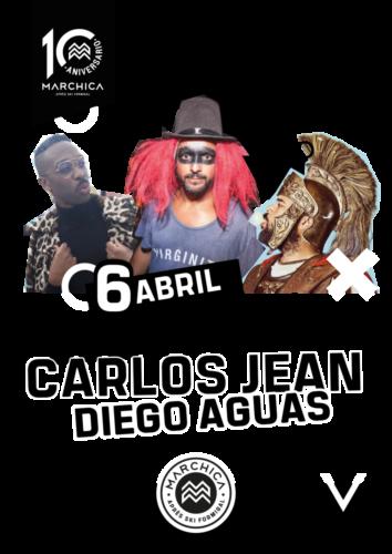 Diego Aguas Colin Peters y Carlos Jean