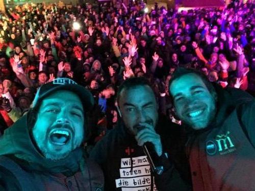 Diego Aguas y DJ Nano con Javi Morata