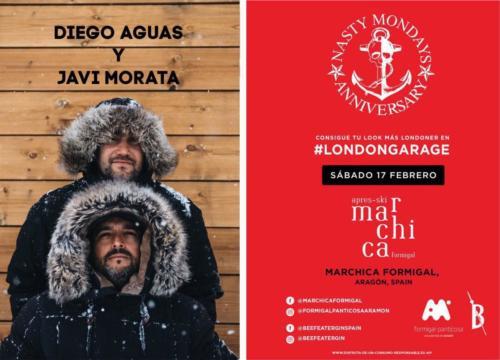 Diego Aguas  con Javi Morata